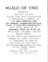 Organizations & Clubs -- GALO of UNO
