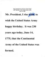 230th Birthday of the United States Army