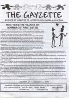THE GAYZETTE, 2000 December 29-2001 January 13