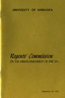 Regents' Commission on the Urban University of the 7O's