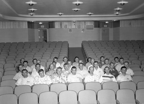 A group of University of Omaha bootstrappers sitting in an auditorium., UNO Libraries' Archives & Special Collections