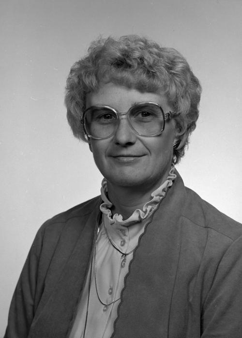 Portrait of Connie Clausen, UNO athletics, taken in October 1983., UNO Libraries' Archives & Special Collections