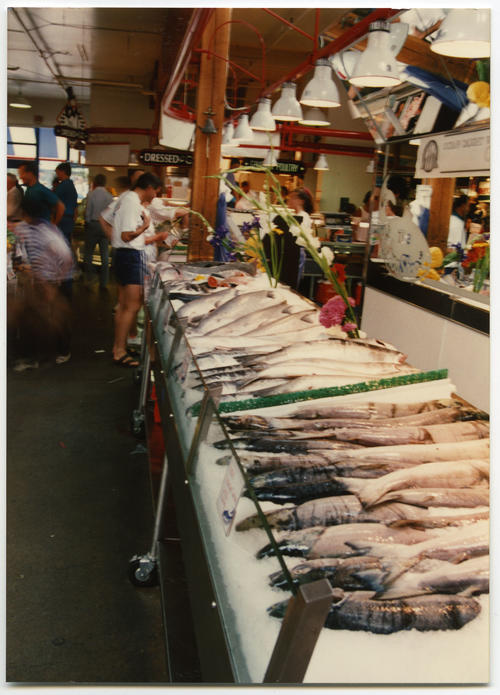 Fish shop at Granville Island Public Market in Vancouver, British Columbia, Canada., UNO Libraries' Archives & Special Collections