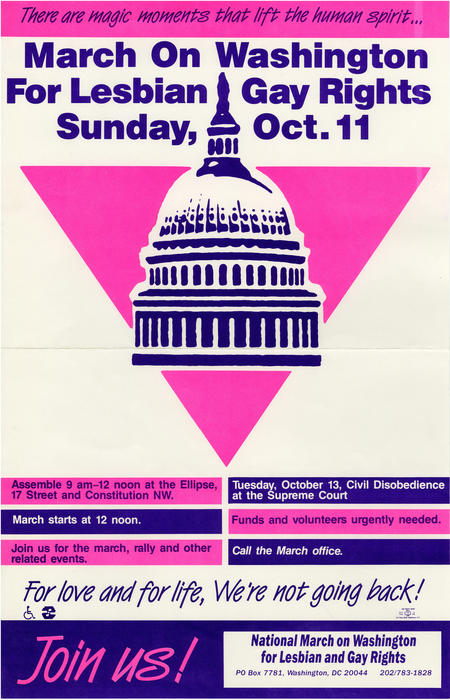 The 1987 March On Washington For Lesbian Gay Rights, October 11th., UNO Libraries' Archives & Special Collections