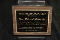 A.N.G.L.E. Award to New Voice of Nebraska 1997