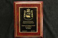Emperor to Emperor Award to Pat Phalen, 1997