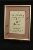 Coronation Program Calligraphy Ad