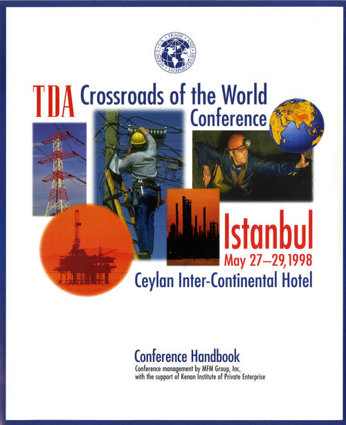 Cover for Crossroads of the World Conference handbook, UNO Libraries' Archives & Special Collections