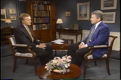 Kerrey & Company on the legislative branch with guest Hagel , February 1998 (Running Time: 0:28:45), UNO Libraries' Archives & Special Collections