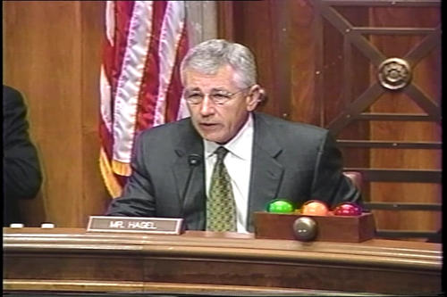 "Hagel at Foreign Relations Subcommittee hearing on ""Eurasia and Energy Security;"" Foreign Relations Committee on Darfur and energy , September 26-27, 2005 (Running Time: 2:00:20), UNO Libraries' Archives & Special Collections"