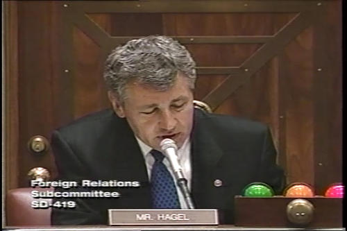 Hagel at Foreign Relations Committee on the Global Climate Treaty , June 19, 1997 (Running Time: 1:10:50), UNO Libraries' Archives & Special Collections