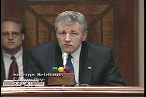Hagel at Foreign Relations Committee on ballistic missiles and ABM Treaty amendments , undated (Running Time: 0:34:10), UNO Libraries' Archives & Special Collections