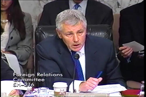 Hagel at Foreign Relations Committee: Petraeus, April 8, 2008; April 23, 2008; Armitage, April 24, 2008; Hagel floor speech on GI Bill, May 14, 2008; Hagel at Banking Committee; Foreign Relations Committee (Running Time: 1:34:38), UNO Libraries' Archives & Special Collections