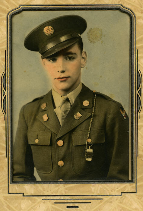This is a photo of Hagel's father, Charles, when he served as a private in the U.S. Army in WWII., UNO Libraries' Archives & Special Collections