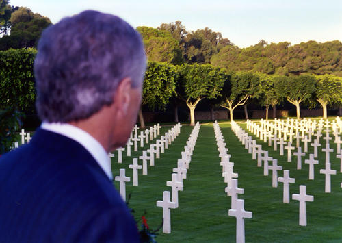 Hagel overlooking American Cemetery in North Africa., UNO Libraries' Archives & Special Collections