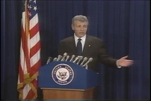 Hagel press conference on campaign finance reform , undated (Running Time: 0:32:39), UNO Libraries' Archives & Special Collections