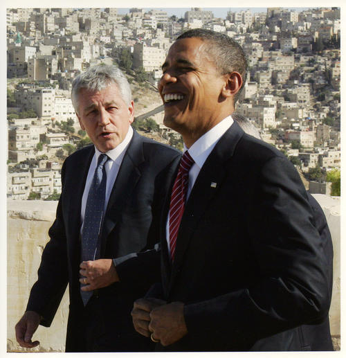 Image of Senators Hagel and Obama in the Middle East, July-August 2008, UNO Libraries' Archives & Special Collections