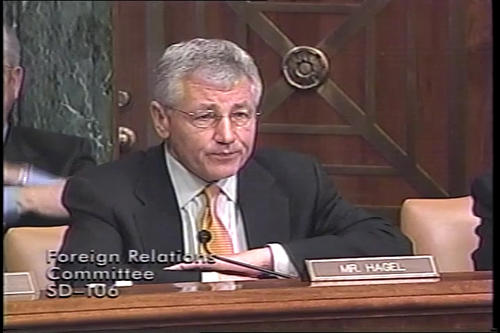 Hagel at Foreign Relations Committee on United Nations reform , 2005 (Running Time: 1:13:47), UNO Libraries' Archives & Special Collections