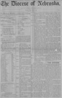 The Diocese of Nebraska - Vol.1, No.7, July 1889