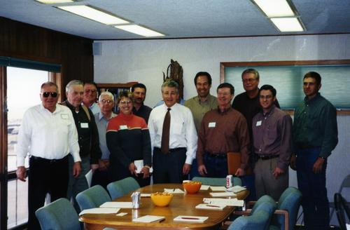 Senator Hagel and residents of Sidney, Nebraska., UNO Libraries' Archives & Special Collections