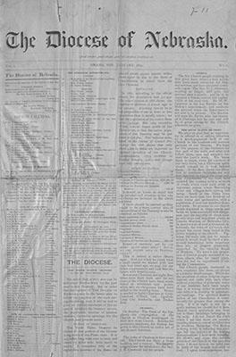 Episcopal Diocese of Nebraska Newspaper Collection